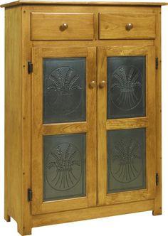 Amish Pie Safe With Tin Doors
