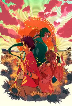 Print+featuring+Mugen,+Jin,+and+Fuu+of+the+anime+series+Samurai+Champloo.    Printed+on+13x19+Lustre+paper.+Prints+come+Watermark+Free.    Posters+come+signed+or+personalized,+just+ask+in+the+description!