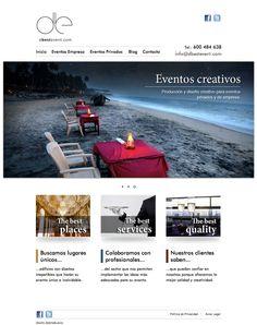 Diseño de la Web The Best Event
