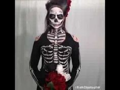 Be bad to the bone! Get Day of the Dead–inspired costume ideas from our 15-second timelapse transformation. Shop 'Black and Bone' skeleton costume ideas at partycity.com/product/black+and+bone+accessories.do #BeACharacter