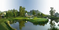 Read our guide to playing the Fancourt Montagu Golf Course in South Africa. Eagle Golf Tours is ATOL Protected. Golf Tour, Us Travel, Golf Courses, Africa, Tours, Water, Garden, Gripe Water, Garten