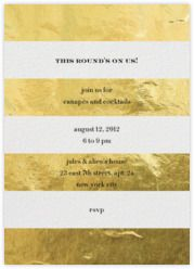 Paperless Post - Evergreen Stripes - Gold