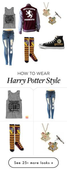 """Harry Potter"" by cakelover19 on Polyvore featuring Converse"