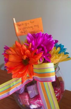 Simple, fun colorful teacher gift for end of the year.