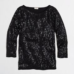 J.Crew Sequin Tee…can't wait to wear this during the holidays.