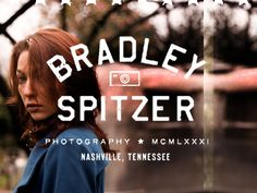 Great branding for an awesome dude. Bradley Spitzer Photography #logo
