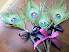 Lady peacock needs these! Peacock Wedding FavorPeacock PenPeacock FeathersGuest by elsol19, $40.00