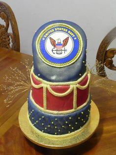 U.S. Navy Retirement Cake! Retirement Cakes, Retirement Parties, Retirement Ideas, Cake Pictures, Cake Pics, Beautiful Cakes, Amazing Cakes, Fondant Cakes, Cupcake Cakes
