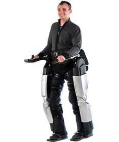 Rex, the robotic exoskeleton, aims to make wheelchairs obsolete...watch the videos, a little pricey at $150,000, but then like the short article says, the value of being able to walk again may merit the cost for R & D.