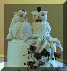 Cute topper for a cake! Cute Wedding Ideas, Owl Wedding, Wedding Stuff, Dream Wedding, Wedding Cake Toppers, Wedding Cakes, Wedding Gowns, Owl Cake Toppers, Karen Johnson