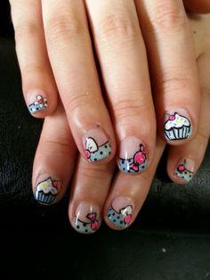 Sweet candy nail art