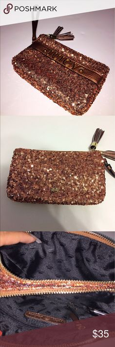 Rose Gold Juicy Couture Wristlet Brand new! Never used! Juicy Couture Bags Clutches & Wristlets