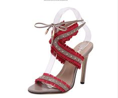 NEW 2017 Fashion Sandals Ankle Strap Heel shoes //Price: $43.86 & FREE Shipping //http://likeadiamondworld.com/new-2016-fashion-womens-sandals-ankle-strap-woman-heel-shoes-rivet-pump-plus-size-40/