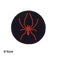 New to craftapplique on Etsy: red spider embroidered patch iron on patch sew on patch (A90) (1.90 USD)