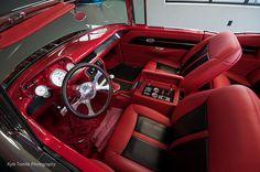 69 Camaro Silver Red Orange And Black Houndstooth Interior