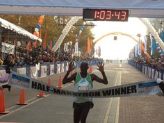 Congratulations to Julius Koskei, who finished the 1/2 in 1:03:44!