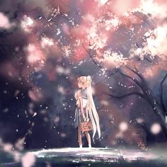 Sailor Moon in Cherry Blossoms by megatruh on DeviantArt