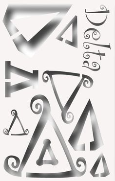 Greek Letter GAMMA Stencil for All your Sorority by DIYGREEKK