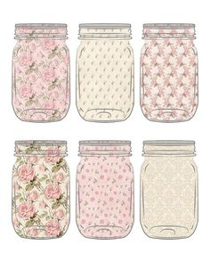 Free Printable Cottage Style Mason Jar Tags - The Cottage Market