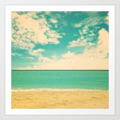 These colors would look great in the dining room!Retro Beach Art Print by Andrea Caroline  - $22.88