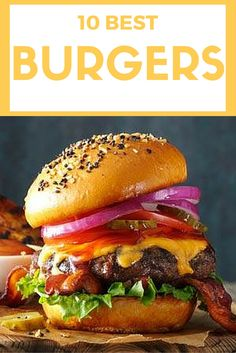 This is THE best burger recipe I've ever tried! Great tasting and stayed together when cooked! Barbecued Burgers Recipe from Taste of Home Barbecue Sauce Recipes, Grilling Recipes, Cooking Recipes, Vegetarian Grilling, Tailgating Recipes, Healthy Grilling, Healthy Chef, Vegetarian Food, Burger And Fries