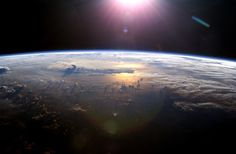 Sunset over the Pacific ocean from space!!!!