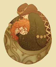 Elinor and baby Merida