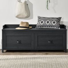 Modern double bedroom: 60 ideas, photos and designs - Home Fashion Trend Grey Storage Bench, Entryway Bench Storage, Storage Drawers, Storage Spaces, Storage Bench Seating, Bedroom Bench With Storage, Porch Storage, Hidden Storage, Shoe Storage