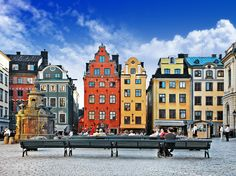 Photo about Colorful old town of Stockholm. Image of picturesque, square, scene - 38347139 Oslo, Voyage Suede, Norwegian Air, Great West, European City Breaks, Beautiful Islands, Lonely Planet, Travel Destinations, Around The Worlds