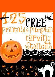 FREE Pumpkin Stencil Printables - printables for carving your pumpkins this halloween that are free!!