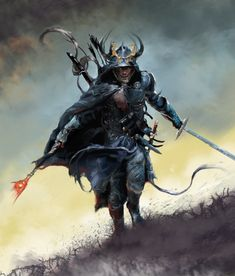 Assassin God by David Seguin, via Behance.  Cool samurai dual wielding katana and what appears to be a wand or rod. Mayhaps a cool RPG character concept