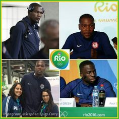 KD and Dray sighting! Yup  Team USA's in Rio for the Olympics! Can't wait for the game's to begin! @usabasketball @olympics2016_rio @money23green @easymoneysniper