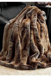 Limited Edition Coyote Faux Fur Throws - new bedroom option?