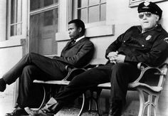 In The Heat of The Night, with Sidney Poitier and Rod Steiger, 1967