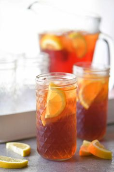 easy sweet tea recipe is super smooth and refreshing! You'll want to keep a pitcher of this southern sweet tea in the fridge all summer long. Fruit Tea Recipes, Sun Tea Recipes, Sweet Tea Recipes, Sangria Recipes, Summer Recipes, Holiday Recipes, Easy Recipes, Drink Recipes, Healthy Southern Recipes