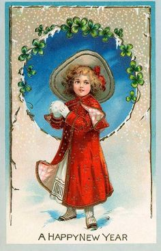 vintage new year cards liveinternet