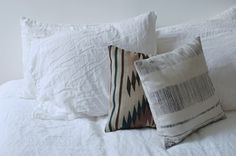 #pillows and #white bed linen