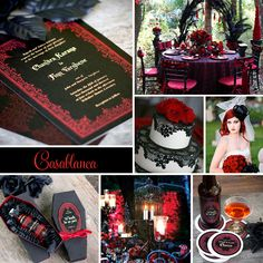 Goth Inspired Wedding Inspiration from My Own Ideas Blog #goth #red #black #halloween