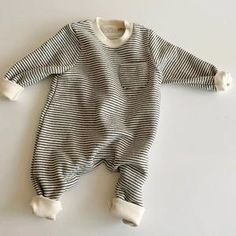 Baby Jumpsuit, Striped Jumpsuit, Jumpsuits For Girls, Girls Rompers, Toddler Outfits, Baby Boy Outfits, Baby Boy Fashion, Kids Fashion, Boho Baby Clothes