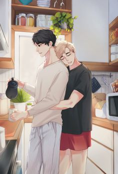 Haikyuu Karasuno, Haikyuu Ships, Haikyuu Fanart, Haikyuu Anime, Anime Couples Drawings, Cute Anime Couples, Real Anime, Anime Guys, Haikyuu Characters