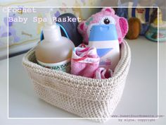 Spa Backet - wish I had thought of this! I have so much cotton yard and got bored with other projects