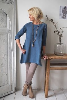 TIMELESS Linen Tunic 2, Jeans