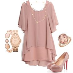 """""""Rose Gold Outfit"""" by tiffany-margulis on Polyvore"""