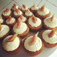Fig cupcakes! by Short Street Cakes, via Flickr