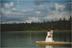 Backyard country wedding // lake wedding images