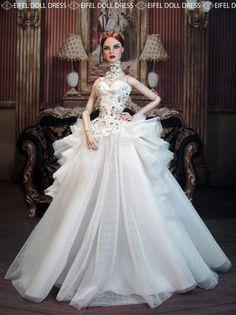 Eifeldolldress Fashion Royalty Evening Dress Outfits Gown BArbie Silkstone 0030 | eBay