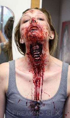 Face makeup for Zombies