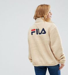 Fila Petite Teddy Bear Jacket With Pocket Detail - Beige
