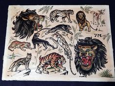Original Sailor Jerry Flash Art Tattoo Animals Painting Norman Keith Collin.jpg (949×712)