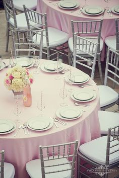 baby shower table set up, but i need this in lavender, gray, and white